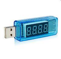 batería usb azul al por mayor-NUEVO KWS-05 Cargador USB Banco de potencia Medidor de voltaje Capacidad actual Medidor de batería LED Medidor de potencia Medidor Amperímetro Amperímetro Azul / Blanco