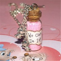 Wholesale Gift Songs - 12pcs We Can Do It Magical Necklace with Mice Charms, Cinderella Work Song, Cinderelly inspired ncklace
