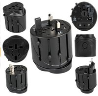 Wholesale Eu Travel Adapter World - All in One Universal International Plug Adapter World Travel AC Power Charger Adaptor AU US UK EU converter Plug Wall Charger