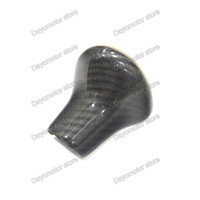 Wholesale Audi A6 Shift Knob - Carbon Fiber For AUDI A4 A5 A6 A7 Q5 Q7 S6 S7 2012 2013 2014 2015 2016 Gear Shift Shifter Knob Cover Sticker Styling
