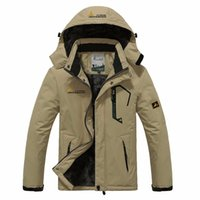 Wholesale Waterproof Jacket Wadded - Wholesale- Winter women Men Down Parka Jacket men`s Fashion Hooded Thick Warm Outwear Waterproof Windproof Overcoat Wadded Coat size M~6XL