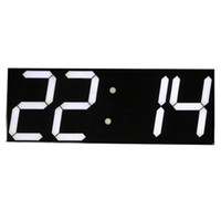 Wholesale Led Display Digital Wall Clock - Wholesale- Free shipping Large Digital Wall Clock LED Display Remote Control Countdown Alarm Clock Stopwatch Modern Design Big