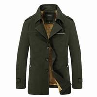 Wholesale Men Snow Coats - Wholesale- Free Shipping Big Plus Size M-5XL New Mens Brand Cotton Thickhen Winter Snow Warm Coat,Hooded Faux Fur Parkas,4 Colors,1639