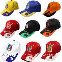 Wholesale National Team Caps - Wholesale Top Quality National Teams Sports Caps Fashion Embroidery Peaked Capcasquette Sunbonnet Cotton Snapbacks Football Baseball Caps