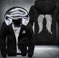 Wholesale Walking Dead Daryl Dixon - New The Walking Dead Hoodie Zombie Daryl Dixon Wings Winter Fleece Mens Sweatshirts USA Size