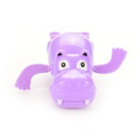 Wholesale Horse Wind Up Toy - Wholesale-1Pc Lovely Child Baby Kids Hippo Swimming Funny Toys Plastic Wind Up River Horse Bath Toys Educational Toys