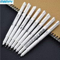 Wholesale Drawing Office Supplies - 8pcs Marvy Professional Fineliner Brush Sketch Art Copic Marker Ink Drawing Liner Pigment Pen Set School Office Supplies