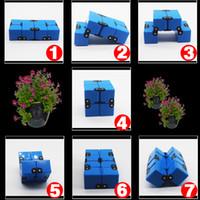 алюминиевый куб оптовых-Металл бесконечность куб алюминиевого сплава бесконечность куб 175 г новый бесконечность кубов EDC непоседа игрушки СДВГ