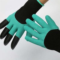 Wholesale New Garden Genie Gloves With Claws Built In Claws Make Gardening Fun Easy Digging Planting Gloves Waterproof Resistant To Thorns DHL free