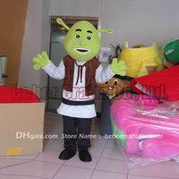 Wholesale Shrek Mascot Costumes - Shrek mascot costume free shipping, cheap high quality carnival party Fancy plush walking Shrek mascot adult size.