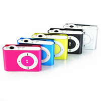 Wholesale Mp3 Memory Card Slot - Wholesale- Hot Selling Portable Metal Clip MP3 Player with 8 Candy Colors No Memory Card Music Player with TF Slot