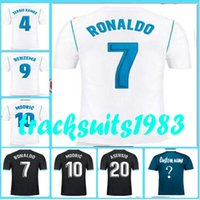 Wholesale New Free Fonts - Rugby 2017 2018 Real Jersey New font Benzema Bale #7 Ronaldo modric marcelo 17 18 Madrid jerseys 10 or more free to send DHL First quality