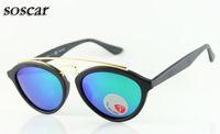 Wholesale Red Polycarbonate Lenses - New Style Sunglasses for Women Polarized Brand Designer Sunglasses for Men High Quality Polycarbonate Lenses soscar Authentic Sunglasses