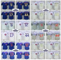 Wholesale Green 12 - 2017 World Series Champions Chicago Cubs jersey 9 Javier Baez 12 Kyle Schwarber 17 Kris Bryant 44 Anthony Rizzo baseball jerseys