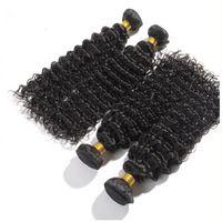 6a sınıf saç toptan satış-Saç Fabrika Toptan 6A Sınıfı Derin Dalga Bakire Brezilyalı Saç 100% Insan Örgü Saç, parça başına 50g 5 adet / grup, ücretsiz DHL