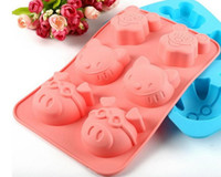 Wholesale chocolate mold animal shape resale online - 100pcs Holes animal Shape Chocolate Mold DIY Silicone Cake Decoration Mold Jelly Ice Baking Mould Love Gift Chocolate Mold