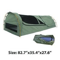 Wholesale Canvas Bags Australia - Wholesale- Export to Australia! Single canvas swag High-grade waterproof sunscreen camping tent sleeping bag roof ventilation mosquito bed