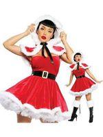 Wholesale Sexy Santa Claus Clothes - Fashion Women Portfolio High Quality Red Sexy Christmas Costume Womens Clothes Bodyshaper Women Santa Costume W444047