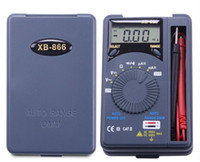 XB-866 Auto Range LCD Mini Voltmeter Tester Werkzeug AC / DC Pocket Digital Multimeter