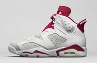 Wholesale Shoe Lining Pu - real running discount price shoe with box Men basketball shoes cheap air retro 6 Alternate White mens sports designer sneakers on line sale