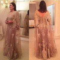 elbise mae gelin toptan satış-Yüksek Kalite Koyu Şampanya Dantel Anne Gelin Elbise Kılıf Zarif Özel Günlerinde Parti Kıyafeti Düğün Için Vestido Mae Da Noiva