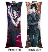 Wholesale Sebastian Anime - Anime Black Butler Kuroshitsuji Ciel Sebastian soft body long Pillow Gift 40cm*100cm