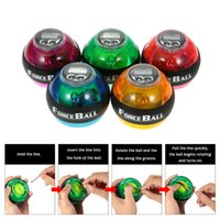 Wholesale Gyroscope Force Ball Speed - 12000 RPMS Gyroscope PowerBall Gyro Power Ball Wrist Arm Exercise Strengthener LED Force Ball with Speed Meter Counter 5Colors