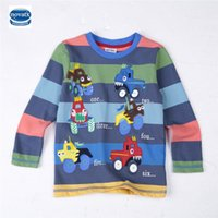 Wholesale Nova Kids Clothing - children clothes long sleeve embriodery colorful patten 100% cotton boy t-shirt nova kids new design 2017 hot sale Children tees