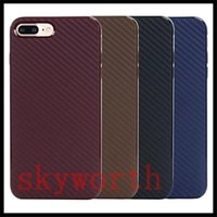 Wholesale Gel Carbon - For iphone 7 TPU Fiber Carbon Phone Case Gel Soft Silicone Cover for iphone6 6 Plus 6S 5 SE