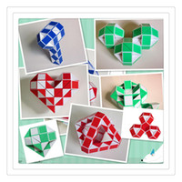 Wholesale jigsaw wholesalers - Magic Cube Puzzle Plastic Puzzles Twist Jigsaw Puzzle Magic Ruler 3D Snake Toys Children Education Intelligence Fidget Toys Free Shipping