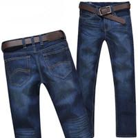 Wholesale Hot Cotton Brand Capris - Wholesale-Hot sale ! 2016 New Arrival Newly Style famous brand Cotton Men's Jeans pants 1lot 2pcs