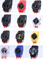 Wholesale led watches for girls - 5pcs lot Sports Watches Men G100 Digital LED Mens Womens G Watch Women Boys Girls Free Shipping good gift for men & boy, dropship