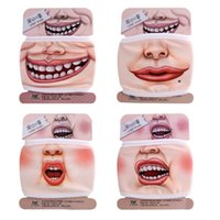 Wholesale Dust Respirator Mask - New Design Novelty Cute 3D Funny Expression Cotton Mouth Face Mask Health Cycling Respirator Warm Free Shipping
