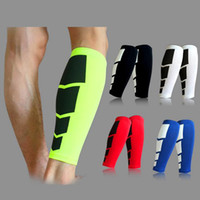 Wholesale Calf Shin Support - Women Men 1Pc Leg Calf Support Shin Guard Base Layer Compression Running Soccer Football Basketball Leg Sleeves Safety