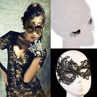 Wholesale Girls Masquerade Costume - Sexy Lace Party Masks Women Ladies Girls Halloween Xmas Cosplay Costume Masquerade Dancing Valentine Half Face Mask WX-M01