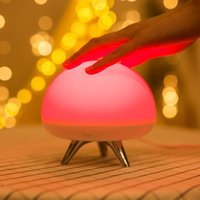 Pats Led for sale - Creative UFO Pat light Rechargeable touch Lamp Mushroom LED Multi-color jellyfish Night light Silicone flying saucer Pat Lamp bedroom Light