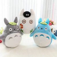Wholesale Totoro Baby Pillow - Wholesale- new plush Car Bamboo bag cartoon totoro plush toys 15-18 CM baby toys pillow cloth doll Birthday gift for Children's day