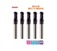 Wholesale Tungsten Carbide Milling Tools - long shank ball nose end mill HRC65 2flutes Taiwan Solid Carbide milling cutter Tungsten Cobalt Alloy tools for CNC machine S6H5BLSML