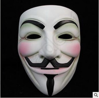 Wholesale Scary Decorations - V Mask Masquerade Masks For Vendetta Anonymous Valentine Ball Party Decoration Full Face Halloween Super Scary Party Mask CCA5534 2000pcs