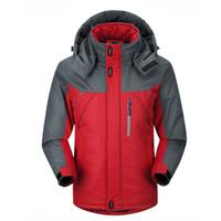 Wholesale Duck Mountain - Wholesale- 2016 New Men Thicken outwear super warm Coat Winter Climb Mountain Jacket Hooded male Parkas Windproof plus size jackets
