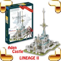 Wholesale Lineage Toys - New Arrival Gift Lineage 2 Online Game Aden Castle 3D Model Building Puzzle PC Game Structure Collection DIY Built Fun Smart Toy
