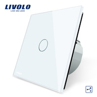 Wholesale Touch Screen Wall Switch Eu - Livolo EU Standard Wall Switch 2 Way Control Switch, Crystal Glass Panel, Wall Light Touch Screen Switch,VL-C701S-1 2 3 5
