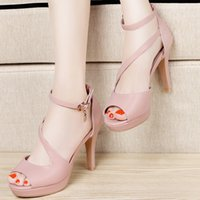 Wholesale Heel Table Party - 2017 Centenary fish mouth high heels fine sandals waterproof table female shoes