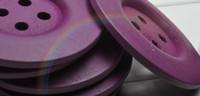büyük düğme ahşap toptan satış-Toptan-10 Adet 60 MM Büyük Mor Ahşap Dikiş Düğmeler Giysi Aksesuarları DIY
