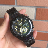 Wholesale Kinetic Sport Watches - New EFR-539D BK-1A2 Wathces Men's Sports Chronograph Watch EFR-539BK Men Business Men's Watches EFR-539D