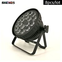 Wholesale high power uv bulb for sale - Group buy 8pcs LED Par Can x18W RGBWA UV DMX Stage Lights Business Light High Power Light with Professional for Party KTV Disco