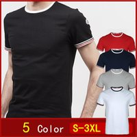 Wholesale MC01 New Men Luxury Mon Brand T Shirt France Design Fashion Short Sleeve Casual Men s T Shirt Summer Gym T Shirts