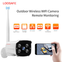 Wholesale Security Camera Tvl Outdoor - LOOSAFE 720P(TVL) Outdoor Bullet IP Camera Wireless WiFi Security Camera Waterproof Night Vision CCTV Surveillance IP camera