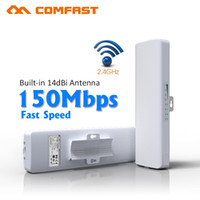 Wholesale Network Access Points - COMFAST 3KM CPE 2.4Ghz 150Mbps CPE WIFI Signal Booster & Amplifier Network Bridge 14dBi Antenna wi fi access point Nanostation