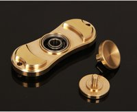 Wholesale 100 Pure Brass Copper EDC Fidget Spinner toy finger gyro Fidget Hand spinner HandSpinner Toy For Decompression Toys with ceramic ball